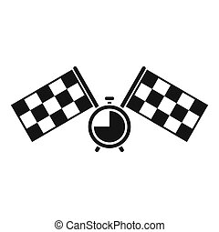 Finish flags icon. Simple illustration of finish flags icon for web design isolated on white background