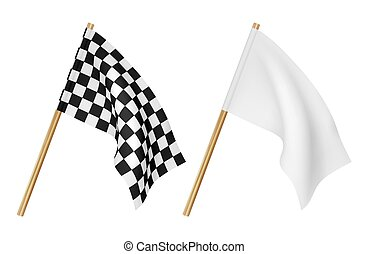 Finish flags isolated on a white background
