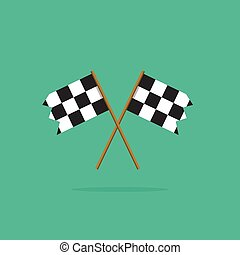 Finish flags vector icon