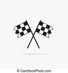 Finish flags vector icon isolated on white background