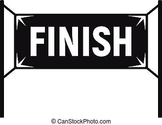 Finish gate icon, simple style