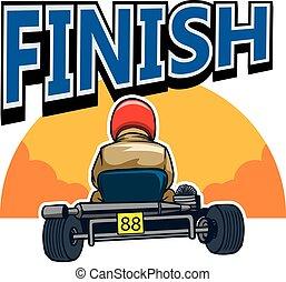Finish Gokart Race