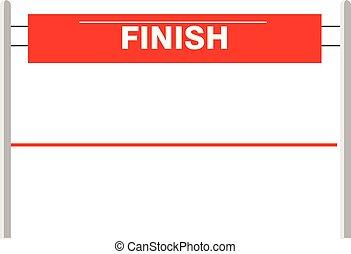 finish., ilustracja, lina., wektor, wstążka, ostatni, ...