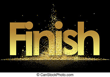 Finish in golden stars background