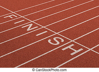 Finish Line as a business symbol of success in completing a...
