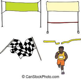 Finish Line Cartoons