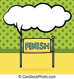finish line doodle