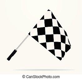 Finish line flag