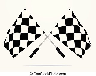 Finish line flags