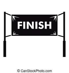 Finish line gates icon, simple style - Finish line gates...