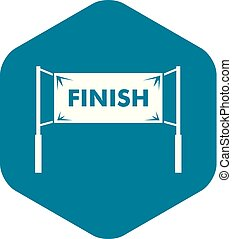 Finish line gates icon, simple style