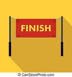 Finish line icon, simple style