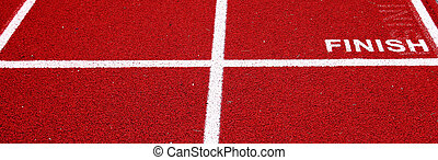 Finish line on a track