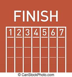 Finish line on running