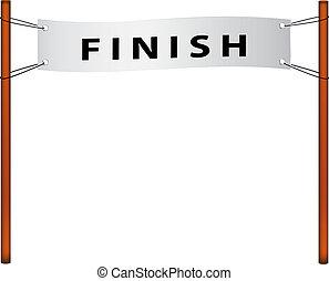 Finish line %u2013 ribbon with finish on white background