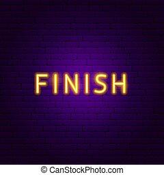 Finish Neon Text