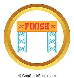 Finish race gate vector icon