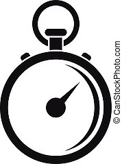Finish stopwatch icon, simple style
