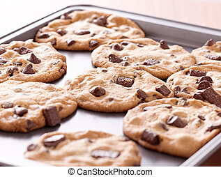 finished cookies right out of the oven