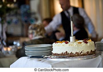 Finished wedding pie - The last floor of a wedding pie