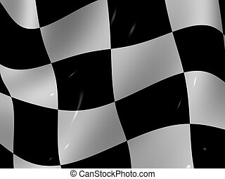 Finishing checkered flag. 3d