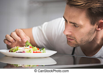 Finishing delicious salad