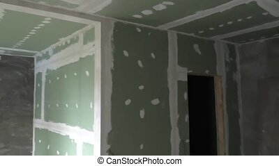 Finishing walls,repair residential premises