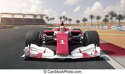 finition, conduite, voiture, une, course, formule, ligne,...