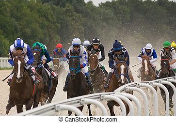 finition, course chevaux