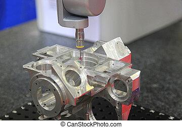 finition, métal, surface, dimensionnel, systèmes, inspection