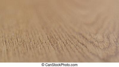 finito, legno, olio, superficie, closeup, quercia