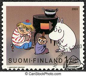 FINLAND - 2003: shows Moomin characters - FINLAND - CIRCA...