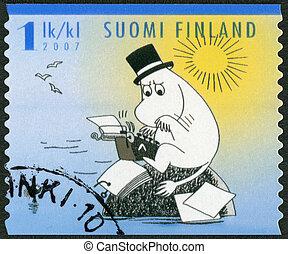 FINLAND - 2007: shows Moominpappa, Moomin characters -...