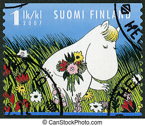 FINLAND - 2007: shows Snork Maiden, Moomin characters -...