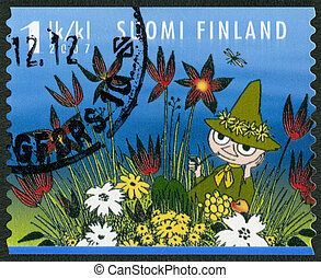 FINLAND - 2007: shows Snufkin, Moomin characters