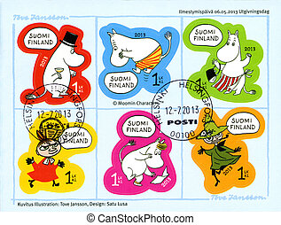 FINLAND - 2013: shows Moomin characters
