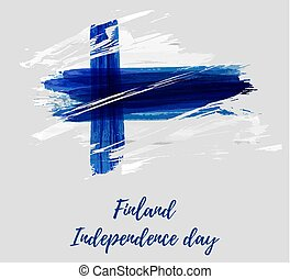 Finland background with flag