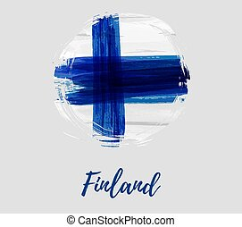 Finland background with flag in round shape - Finland...