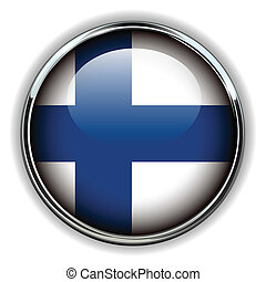 Finland button - Finland flag button