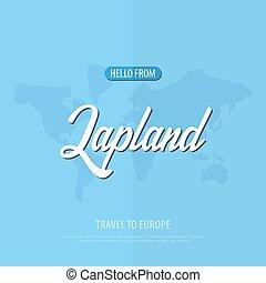 finland., card., touristique, voyage, salutation, vecteur, ...