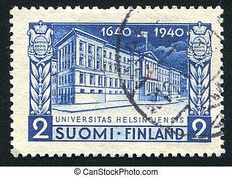University of Helsinki - FINLAND - CIRCA 1940: stamp printed...