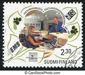 Postal Service - FINLAND - CIRCA 1994: stamp printed by...