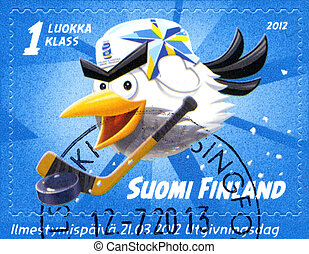 FINLAND - CIRCA 2012: A stamp printed in Finland shows 2012...