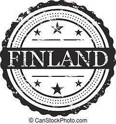 Finland Country Badge Stamp
