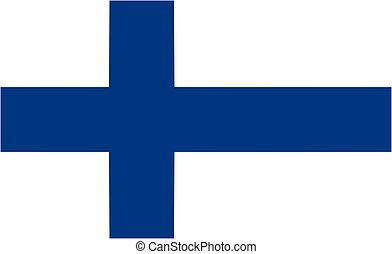 Finland flag and language icon - isolated vector...
