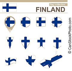 Finland Flag Collection, 12 versions