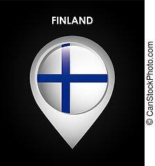finland flag design, vector illustration eps10 graphic