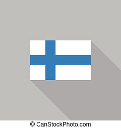 Finland flag flat design vector illustration