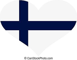 Finland flag heart