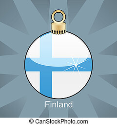 Finland flag in christmas bulb